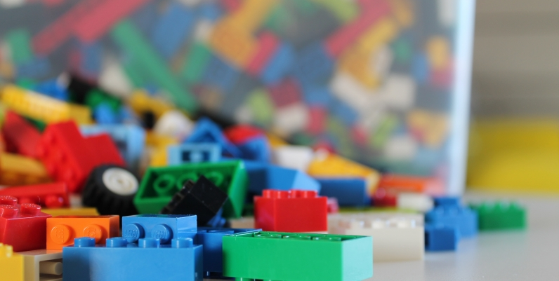Closeup of LEGO blocks