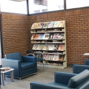 Interior of the Dundas branch casual seating area