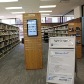 Interior of the new Dundas branch shelving