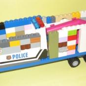 a LEGO Police Van