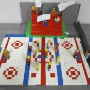 LEGO hockey rink