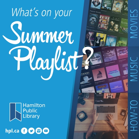 What's on your summer playlist? Movies, Music and How-To are right aligned.