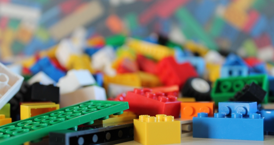 Closeup of LEGO blocks