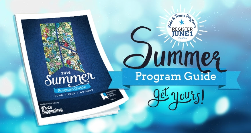 2016 summer program guide with text summer program guide and registration on june 1