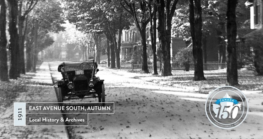 archival photo of east ave south in autumn in 1911