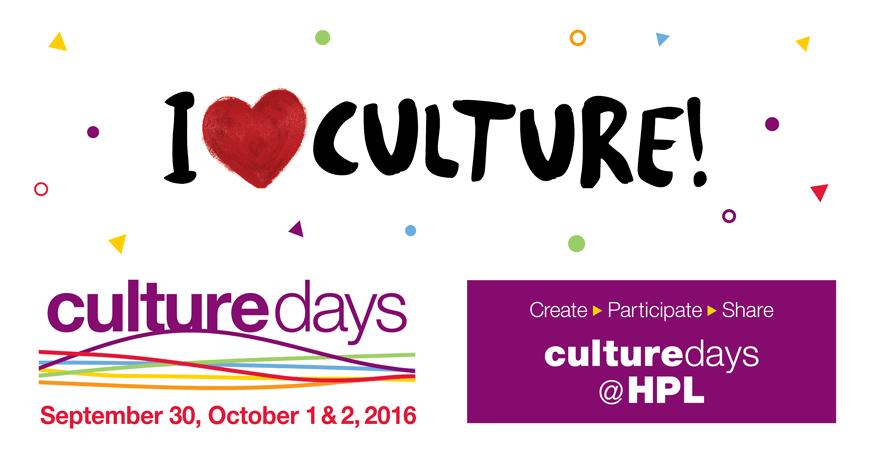 Culture Days at HPL  I heart culture