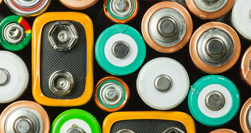 a selection of batteries